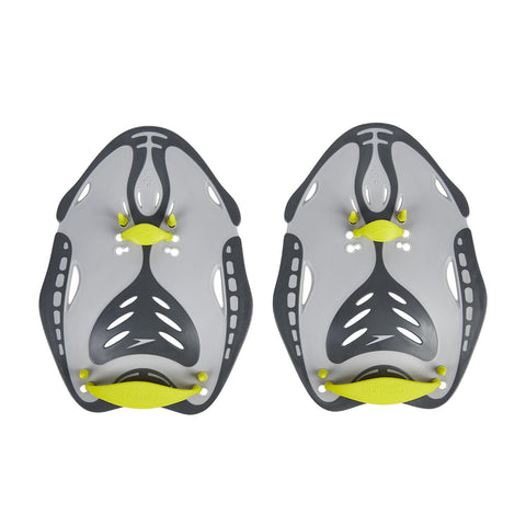 Speedo Adult Unisex Equipment Biofise Power Paddle Grey Yellow - clickswim.co.nz
