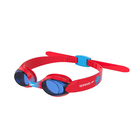 Speedo Illusion Goggles Infant Lava Red/Japan Blue/Blue - clickswim.co.nz