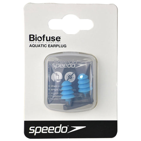 Speedo Biofuse Aquatic Earplug Grey / Blue - clickswim.co.nz