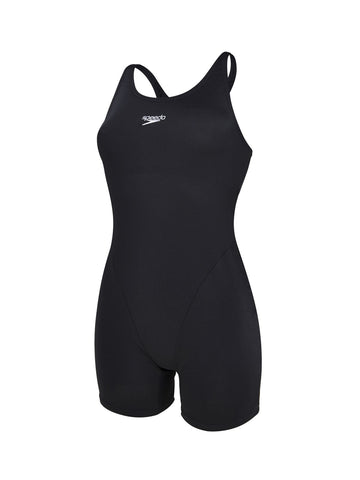 Speedo Adult Womens Swimwear Myrtle Legsuit Black - clickswim.co.nz