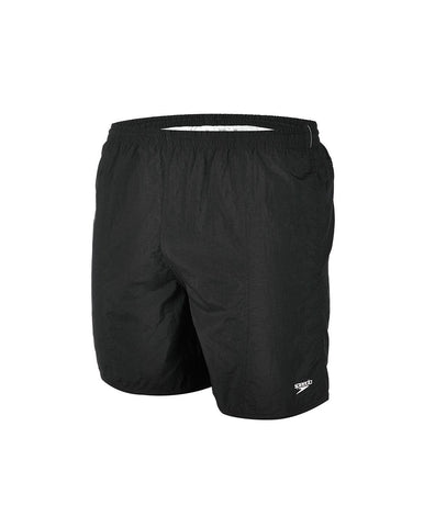 "Speedo Mens Solid Leisure 16"" Watershort Black - clickswim.co.nz"