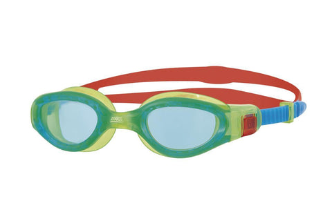 Phantom Elite Junior Junior Goggles Green/Red/Tint - clickswim.co.nz