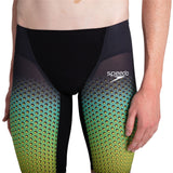 Speedo Fastskin Lzr Pure Valor Jammer Mens Black/Fluo Yellow/Jade