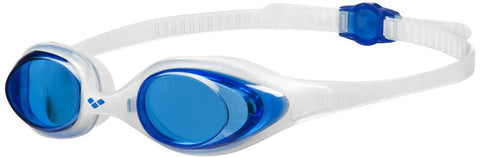 Arena Adult Training Goggles Spider Blue/Clear/Clear - clickswim.co.nz