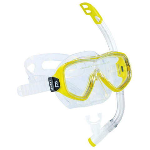 Cressi Ondina Junior Mask And Snorkel Set Yellow - clickswim.co.nz