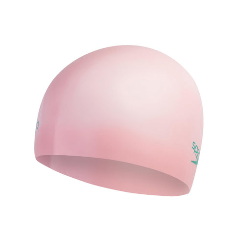 Speedo Moulded Silicone Cap Junior Pink Powder - clickswim.co.nz