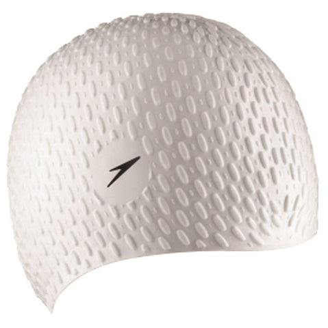 Speedo Womens Bubble Cap White - clickswim.co.nz