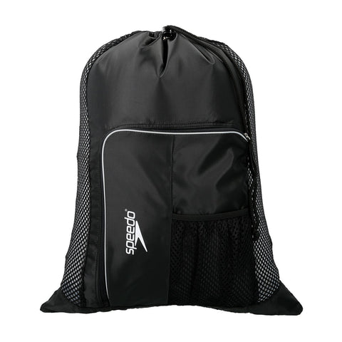Speedo Ventilator Mesh Bag Black / White - clickswim.co.nz