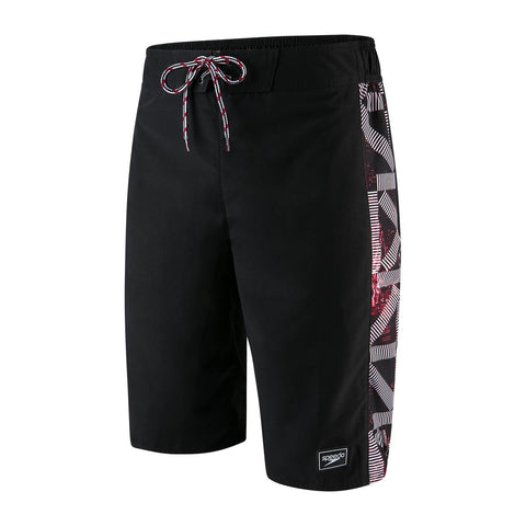 "Speedo Sunrise 22"" Watershort Mens Black/Lava Red/White - clickswim.co.nz"