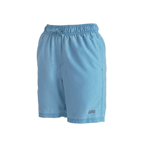 "Mosman Washed  15"" Short  Durafeel (Enzyme) Boys Turquoise - clickswim.co.nz"