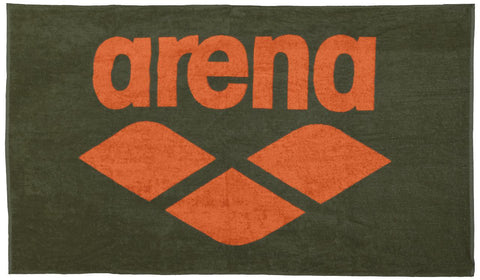 Arena Pool Soft Towel Army Tangerine - clickswim.co.nz