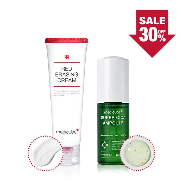 [30% OFF] Super Cica Ampoule + Red Erasing Cream