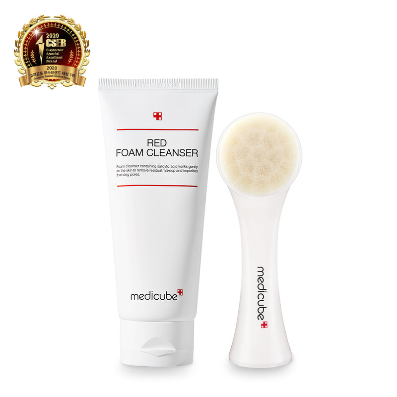 Clarifying Cleansing Kit (Red Foam Cleanser + Pore Brush)