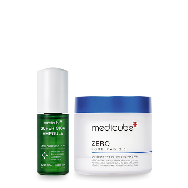 Skin Rescue Set (Super Cica Ampoule + Zero Pore Pad)