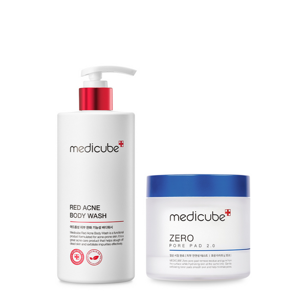 Red Acne Body Wash & Zero Pore Pad