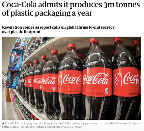 Coca Cola produces a huge amount of carbon emissions