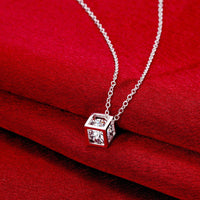 18K White Gold Plated Swarovski Crystal White Topaz Necklace