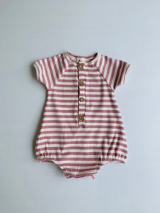 Dixie stripe romper