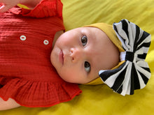 Sailor stripe bow headband