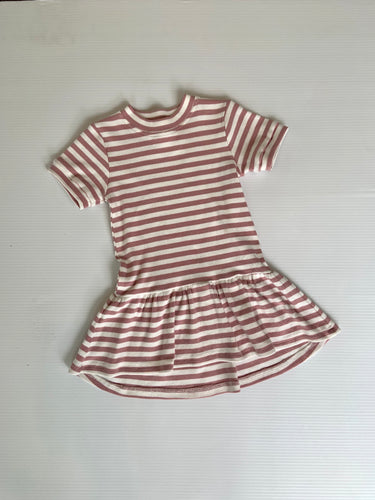 Reeve stripe rib dress