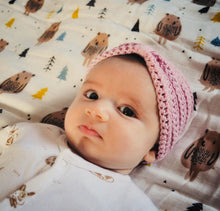 Cotton merino soft pink turban