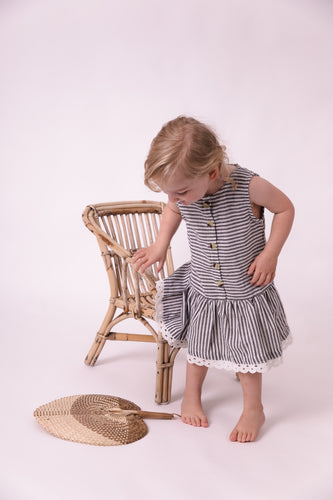 Marlee stripe drop waist dress