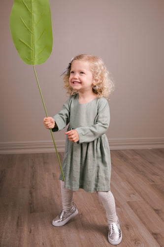 Luna linen dress - Sz e 6-12m & Size 1 only