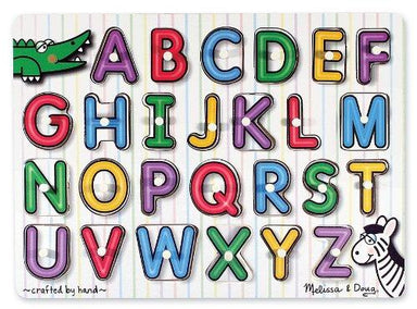 See Inside Alphabet Peg Wooden Puzzle