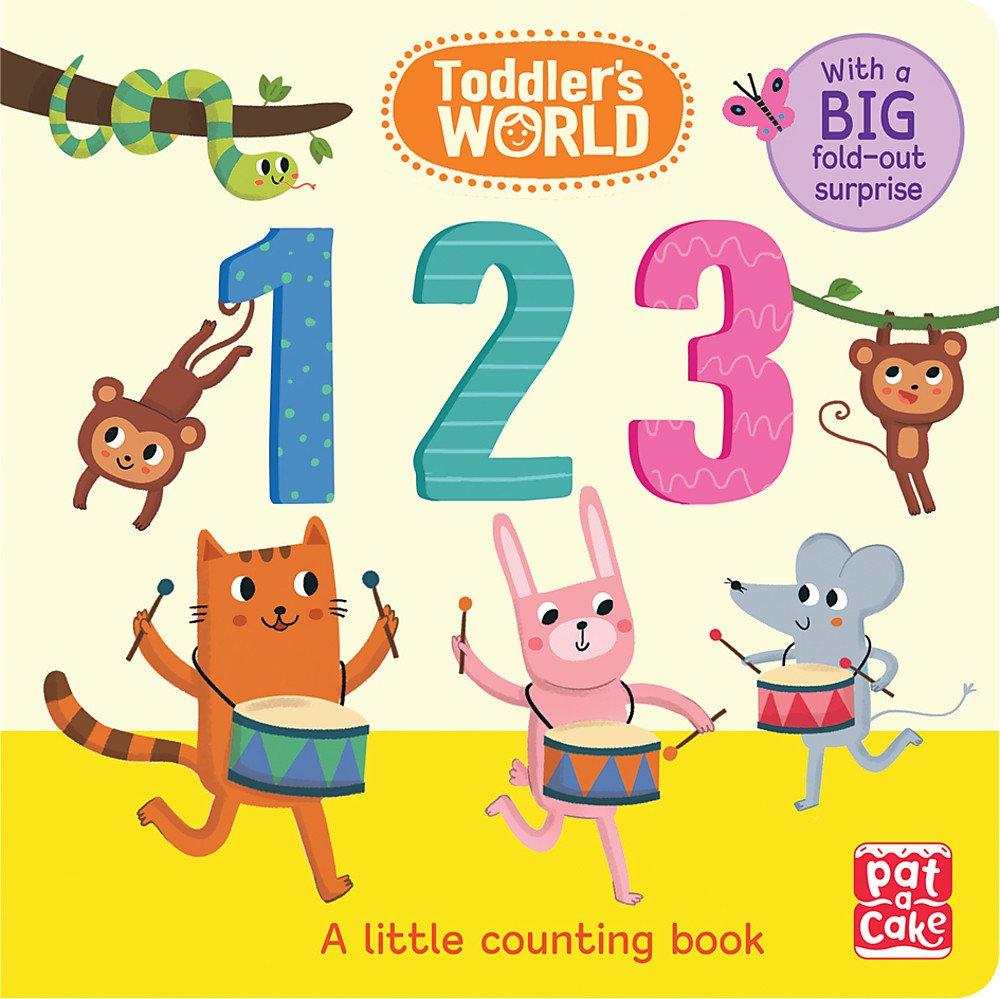 Toddler's World: 123: A little counting board book with a fold-out surprise