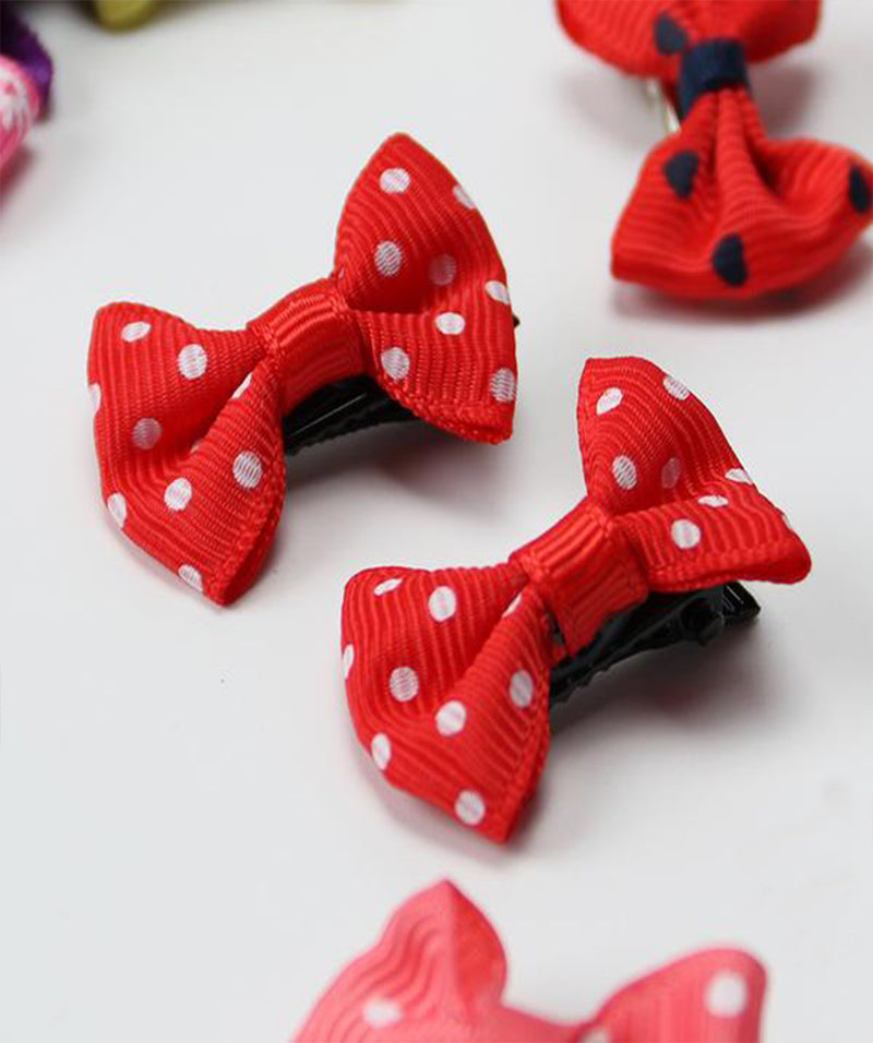20PCS Mixed Color - Mini Bow  Hair Clips
