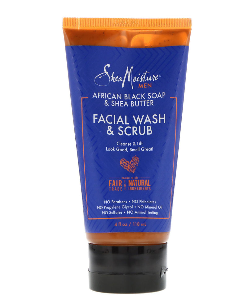 African Black Soap Facial Wash &  Scrub