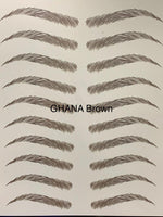 Ghana Brown Eyebrow Tattoo