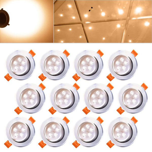 Hengda 12 x 5W LED Warmweiß 2800-3200k LED Spot Decken IP44