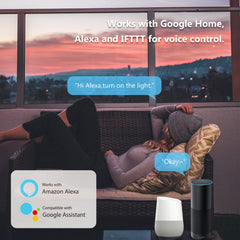 Hengda WLAN Smart Steckdose,Funktioniert mit Amazon Alexa,Google Home,IFTTT