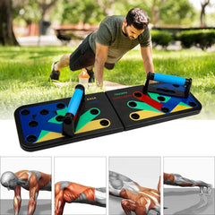 Hengda 14 in 1 Unisex Push Up Brett Tragbare Multifunktions-Muscleboard ideal für Home Training farbcodiertes Push-up-Board