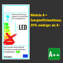 HG 48W LED Deckenlampe Warmweiß