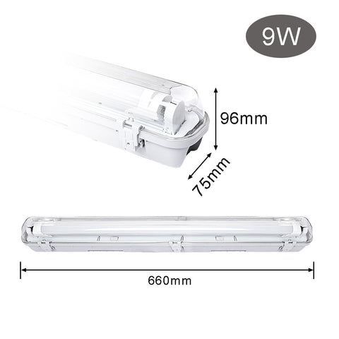 Image of 9W LED Feuchtraumleuchte 60CM Warmweiß LED Röhre T8, G13