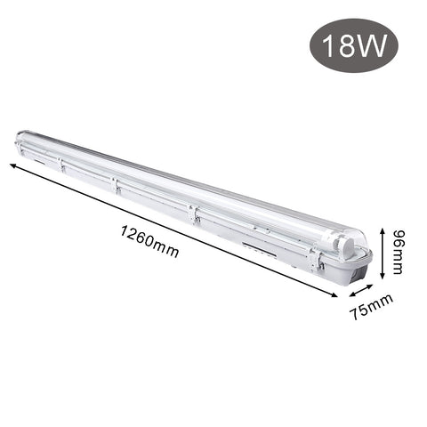 Image of 18W LED Feuchtraumleuchte 120CM Warmweiß LED Röhre T8, G13