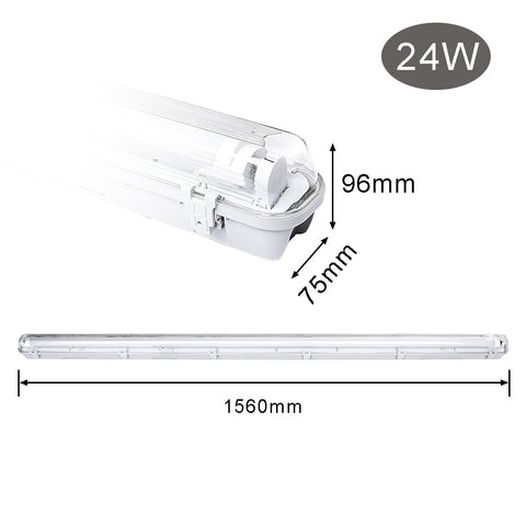 Image of 24W LED Feuchtraumleuchte 150CM Warmweiß LED Röhre T8, G13