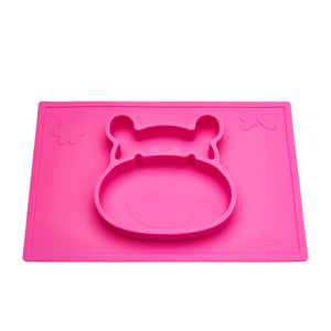 Grippo™ 2-in-1 Placemat and Plate - Pink