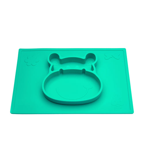 Grippo™ 2-in-1 Placemat and Plate - Aqua