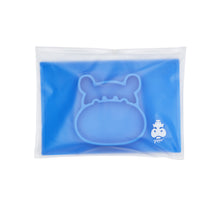 The suction placemat in Cobalt Blue comes in a convenient ziplock bag for meals on the go.