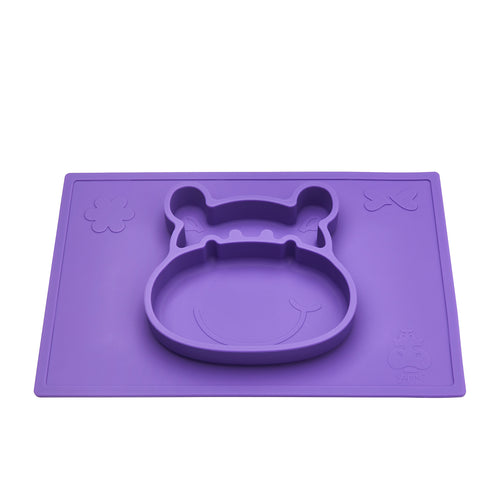 Grippo™ 2-in-1 Placemat and Plate - Plum