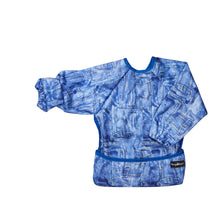 Top quality waterproof bib and apron with KAM fasteners in a beautiful blue design.
