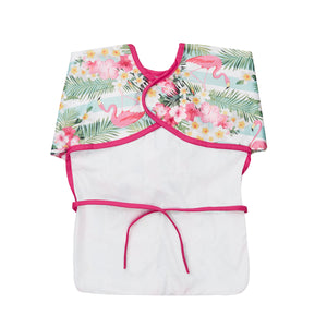 Top quality waterproof apron and bib for baby in a bright and colourful design.