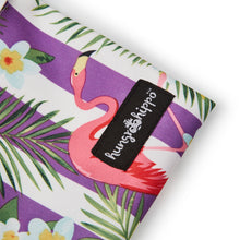 HungrHippo wetbags are top quality and available in a plum flamingo PUL fabric print.