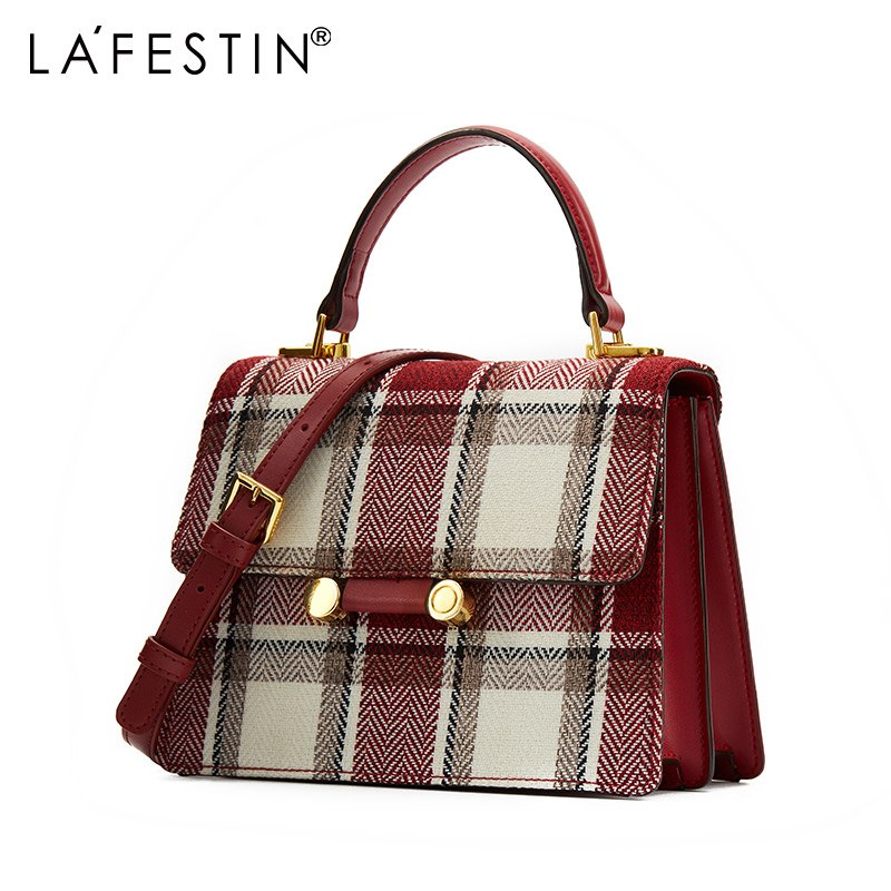 b8a5123ead ... LA FESTIN Luxury handbags women bags designer Plaid shoulder bags for women  2018 New messenger bags ...