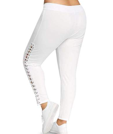Stretchy  Plus Size Ripped Leggings