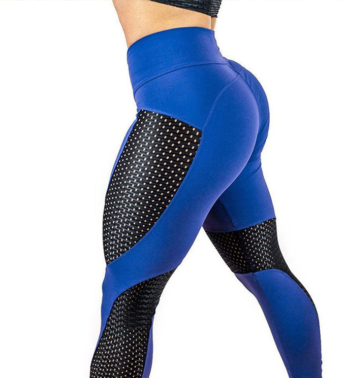 Vibrant Sporty Mesh Push Up Leggings