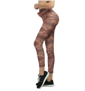Wool printed yoga leggings